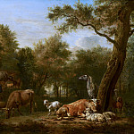 Adriaen van de Velde - Wooded Landscape with Cattle, Mauritshuis