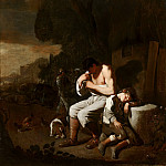 Michael Sweerts - A Man Removing Fleas from Himself and a Sleeping Boy, Mauritshuis