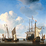 Ships in the Roads, Willem van de Velde the Younger