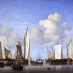 Willem van de Velde the Younger - Ships in the Roads, Mauritshuis