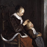 Gerard ter Borch - Mother Combing Her Child's Hair, , Mauritshuis