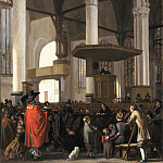 Mauritshuis - Emanuel de Witte - The Oude Kerk in Amsterdam during a Service