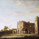 Landscape with the Ruins of Rijnsburg Abbey, near Leiden, Aelbert Cuyp
