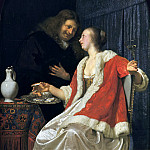 Frans van Mieris the Elder - Man and Woman Eating Oysters, Mauritshuis