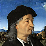 Piero di Cosimo - Portrait of Giuliano da Sangallo , Son of Francesco Giamberti, Mauritshuis