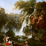 Claude-Joseph Vernet - The Waterfalls at Tivoli, with the Villa of Maecenas, Mauritshuis
