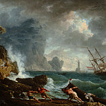 Claude-Joseph Vernet - An Italian Harbour in Stormy Weather, Mauritshuis