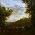 Herman van Swanevelt - Wooded Landscape with Shepherds, Mauritshuis