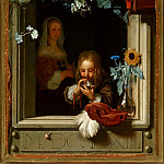 Frans van Mieris the Elder - A Boy Blowing Bubbles, Mauritshuis