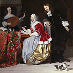 A Young Woman Composing a Piece of Music, Gabriel Metsu