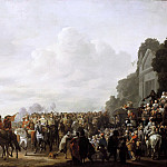Johannes Lingelbach - Charles II stopping at the Estate of Wema on his Journey from Rotterdam to The Hague, 25 May 1660, Mauritshuis