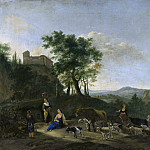 Jan Willemsz Lapp - Italianate Landscape with Shepherds, Mauritshuis