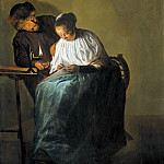 Judith Leyster - Man Offering Money to a Young Woman, Mauritshuis