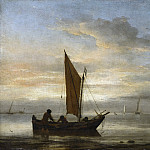 Sunset at Sea, Willem van de Velde the Younger