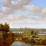 Mauritshuis - Joris van der Haagen - Panorama near Arnhem with the Rhine Gate