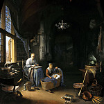 Gerrit Dou - 'The Young Mother', Mauritshuis