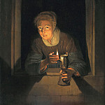 Mauritshuis - Gerrit Dou - Young Woman Holding a Lamp
