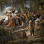 Jan Steen - 'A Pig Belongs in the Sty', Mauritshuis