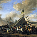 Philips Wouwerman - Army Camp, Mauritshuis