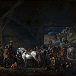 Philips Wouwerman - 'The Departure from the Stable', Mauritshuis