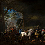 Philips Wouwerman - 'The Arrival at the Stable', Mauritshuis