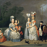 Anton Wilhelm Tischbein - Portrait of Carolina Wilhelmina of Orange and her Children, Mauritshuis