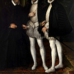 Mauritshuis - Anonymous (France) - Portrait of the Brothers Gaspard (1519-1572), Odet (1517-1571) and François (1512-1569) de Châtillon-Coligny
