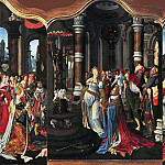 Master of the Salomon triptych - Triptych with the Life Story of Solomon, Mauritshuis