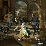 Jan Steen - Portrait of Jacoba Maria van Wassenaer , known as 'The Poultry Yard', Mauritshuis