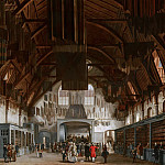 Hendrik Pothoven - The Main Hall of the Binnenhof in The Hague, with the State Lottery Office, Mauritshuis