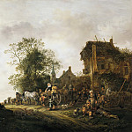 Isack van Ostade - Travellers outside an Inn, Mauritshuis