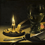 Pieter Claesz - Still Life with Lighted Candle, Mauritshuis