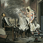 Mauritshuis - Cornelis Troost - Harlequin, Magician and Barber: The Rivals Exposed