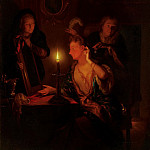Godfried Schalcken - Lady at a Mirror by Candlelight, Mauritshuis