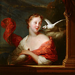 Godfried Schalcken - Young Woman with Pigeons, Mauritshuis