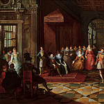 Frans Francken the Younger, Paul Vredeman de Vries, Anonymous - Ballroom Scene at a Court in Brussels, Mauritshuis