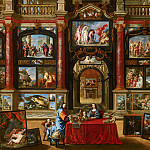 Mauritshuis - Gonzales Coques (with many other artists) - Interior with Figures in a Picture Gallery