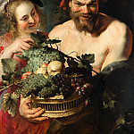 Nymph and Satyr, Peter Paul Rubens
