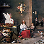 Mauritshuis - David Teniers the Younger - Kitchen Interior