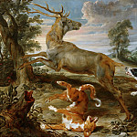 Paul de Vos, Jan Wildens - Stag Hunt, Mauritshuis