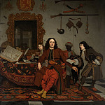 Mauritshuis - Michiel van Musscher - Portrait of Thomas Hees (1634-1692), with his Nephews Jan (b. 1662/63) and Andries (b. 1669/70) Hees, and his Servant Thomas
