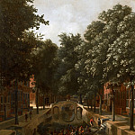Mauritshuis - Job Adriaensz Berckheyde - View of a Dutch Canal, possibly the Oude Gracht in Haarlem