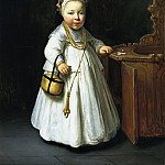 Girl by a High Chair, Govert Teunisz Flinck