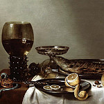Willem Claesz Heda - Still Life with a Rummer and Watch, Mauritshuis