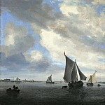 Salomon van Ruysdael - View of Sailing Boats on a Lake, Mauritshuis