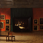 Mauritshuis - Antoon François Heijligers - Interior of the Rembrandt Room in the Mauritshuis in 1884