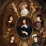Adriaen Hanneman - Portrait of Constantijn Huygens and his Five Children, Mauritshuis