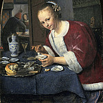 Jan Steen - Girl Eating Oysters, Mauritshuis