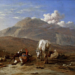 Karel Dujardin - Italian Landscape with a Young Shepherd Playing with his Dog, Mauritshuis