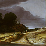 Pieter Santvoort - Landscape with road and farmhouse, Part 4